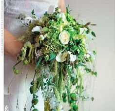 Very nice bouquet. Like the cascading effect and the wide range of greens