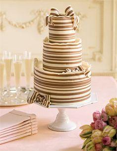 Brown and White Chocolate Wedding Cake
