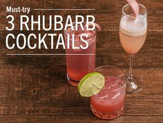 3 rhubarb cocktails These tasty cocktails all start with rhubarb simple syrup. And like the name says, it's really simple to make! Combine 4 cups of chopped rhubarb, 1 cup sugar and 1 cup of water in...