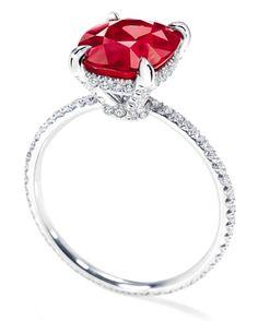 Harry Winston ruby + micropavé diamonds.