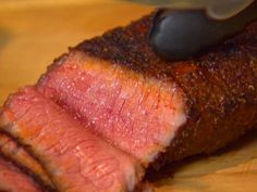 Get Dave Lieberman's Dry Rubbed London Broil Recipe from Food Network