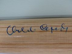 Orlando Cepeda Autographed Bat COA Cardinals Giants Hall of Famer Puerto Rican