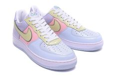 cd6d498db35c Mens Womens Nike Air Force 1 Low Easter 2017 Retro Titanium Lime Ice Storm  Pink 845053