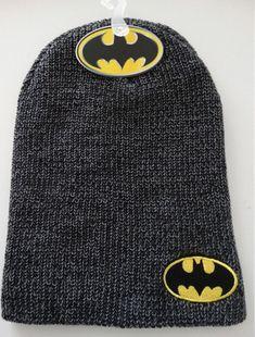 4ccb711ea9e Batman Logo Dc Comics Slouch Knit Beanie Hat Nwt  Batman  Beanie Knit  Beanie Hat