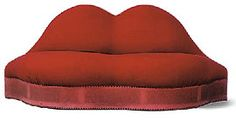 Salvador Dali Mae West Lips sofa 1936  Edward James, Dali's patron collaborated with him in having this sofa made. In the sixties it was re-interpreted as the lips of Marylin Monroe