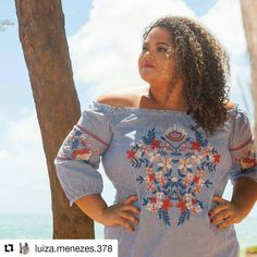Beautiful top  #Repost @luiza.menezes.378 (@get_repost)  Ela decidiu fazer a sua própria história!  #misplussize #misplussizern #model #modelog #modelando #gordinhasim #plusmodel #plussize #plussizebrasil #moda #modagrande #make #makeup #beleza #plussizeblogger