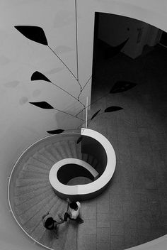 Because a spiral staircase is necessary in a luxury interior. Find more at Luxxu Blog