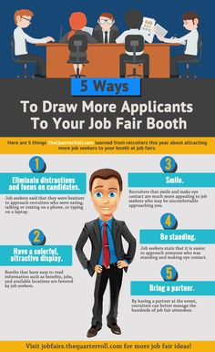 5 Ways To Draw More Applicants To Your Job Fair Booth
