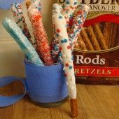 Pretzel Rod Sparklers: sparklers you can eat!