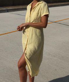 "246 Likes, 2 Comments - Na Nin Vintage (@naninvintage) on Instagram: ""Vintage stunning lemon market dress. Size xs-m. $68 + shipping. SOLD"""