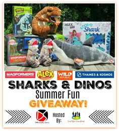 Sharks & Dinos Summer Fun Giveaway | MumbleBee Inc  One (1) winner will receive $140 In Sharks & Dino Themed Educational Toys & Crafting Kits! Magformers Dino Rano 15pc Set [$49.99]   Thames & Kosmos: I Dig It! Dinos – Glow-in-the-Dark T. Rex Excavation Kit [$12.95]   Wild Republic: T-Rex Stuffed Animal – 12″ [$14.99]   Wild Republic: Great White Shark Stuffed Animal – 15″ [$14.99]   Wild Republic: Huggers T-Rex Stuffed Animal – 8″ [$15.98] Winner Receives 2 Of These!  This Giveaway is valid…