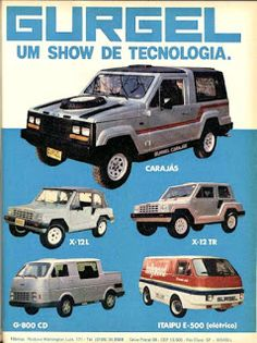 Gurgel Motor Cars - Industria Brasiliera #car #brazil                                                                                                                                                     Mais