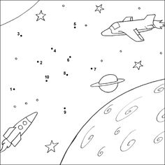 Crafts,Actvities and Worksheets for Preschool,Toddler and Kindergarten.Free printables and activity pages for free.Lots of worksheets and coloring pages. Free Kindergarten Worksheets, Free Printable Worksheets, Worksheets For Kids, Magic Crafts, Connect The Dots, Space Theme, Activity Sheets, Space Crafts, Kids Crafts