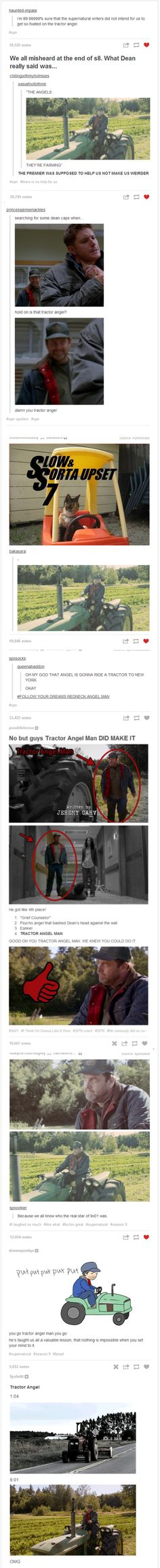 Crazy Redneck Tractor Angel. This is literally the best thing ever.