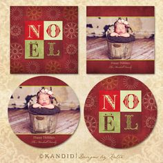 Noel Holiday Card Template