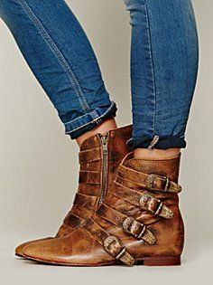 Free People Beatnik Ankle Boot in glossed-over