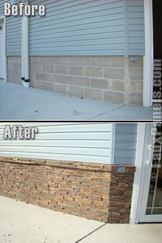 Home and Commercial Remodeling with Wellington Panels Wellington Photo Gallery: Faux Panels® Design Faux Stone Siding, Faux Brick, Stone Veneer Exterior, Brick Siding, Brick Facade, Faux Panels, Faux Stone Panels, House Foundation, Brick And Wood