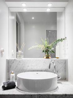 bathroom ideas remodel is entirely important for your home. Whether you pick the diy bathroom remodel ideas or bathroom towel ideas, you will create the best bathroom towel ideas for your own life. Retro Bathrooms, Dream Bathrooms, Minimalist Bathroom, House Doctor, Bathroom Flooring, Bathroom Marble, White Bathroom, Plywood Furniture, Floor Design