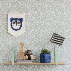 New Ferm Living Autumn/Winter 2014 collection of kids wallpaper and kids room products. Graphic Wallpaper, Modern Wallpaper, Designer Wallpaper, Scandinavian Nursery Furniture, Scandinavian Kids Rooms, Scandinavian Wallpaper, Scandinavian Style, Wall Hanging Shelves, Shelf Hangers