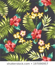 Ähnliche Bilder, Stockfotos und Vektorgrafiken von Beach Cheerful Seamless Pattern Wallpaper Tropical - 687438982