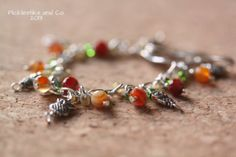 Bracelet Beautiful Fall Colors and Owl Charms by PickleStiksandCo, $22.00
