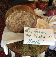 the oldest cheese in the world is an Asiago cheese by Finco  26 years old!