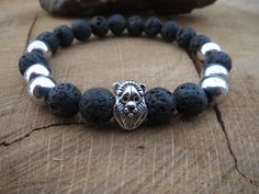 Check out this item in my Etsy shop https://www.etsy.com/listing/221663494/men-bracelet-mens-lava-stone-hematite
