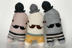 crocheted mustache softies by sandra juto. so darn cute.
