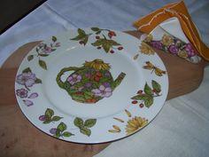 Plato torta ,pintado a mano ,por Ana M Etcheberry ...ArtesAna