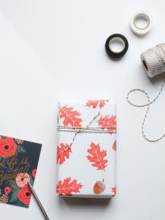 There is something about wrapping with personality that I adore. Taking the extra few minutes to create an individual gift is so easy I'd recommend anyone have a go! All you need is paper, stamps (these autumnal beauties are from Papermash and are available here) an ink pad and a few minutes of your time… …