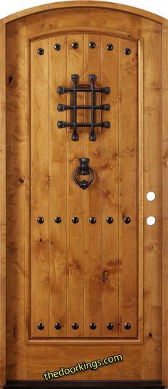 Rustic Tuscan alder door.  www.thedoorkings.com