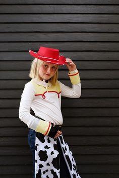 Jessie + Woody Halloween Costumes - Oleander + Palm Jessie Costumes, Woody Costume, Toy Story Costumes, Halloween Fashion, Halloween Costumes, Yarn Wig, Toy Story Theme, Matching Costumes, Red Bandana