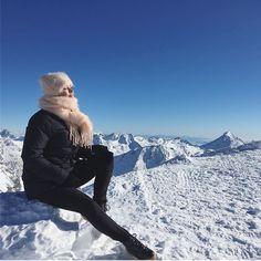 Fresh Saas-fee mountain air.  Balmuir Kid mohair scarf and beanie.  www.balmuir.com