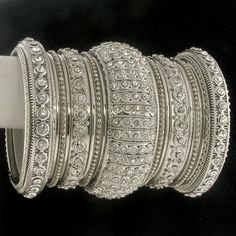 Shop for traditional Indian and Mughal Jewelery Bridal Bangles, Gold Bangles, Wedding Jewelry, Indian Bangles, Bangle Set, Bangle Bracelets, Bling, India Jewelry, Jewelry Collection
