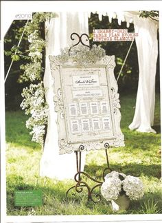 table plan/flowers