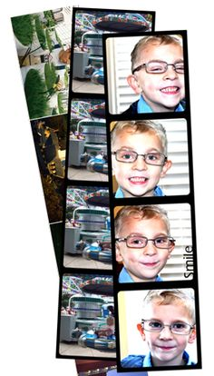 Photo Booth Photo Strips: Make Your Own in Photoshop/Photoshop Elements