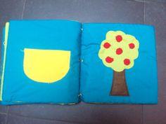 Boek om sluitingen te oefenen: Appelboom met drukknopen