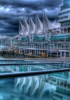 Canada Place ~ Vancouver - I am lucky enough to work in a beautiful waterfront location where constant tourism and cruise ship traffic make for a dynamic environment.: #cruisetipsforteens