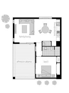 Floor plan LHS - House Plans, Home Plan Designs, Floor Plans and Blueprints Granny Flat Plans, Mcdonald Jones Homes, Small House Floor Plans, Apartment Plans, House Blueprints, Cabin Plans, Tiny House On Wheels, House Layouts, House Design