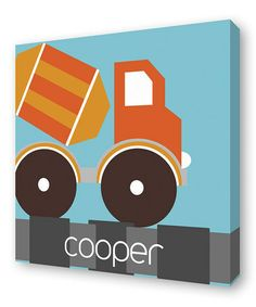 Take a look at this Orange Mixer Personalized Wall Art by Lex Modern on #zulily today!