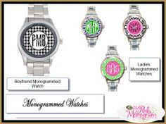 Monogrammed Watches?!! Oh yes!