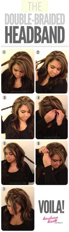 #DIY Double Braided Headband Hairstyle Do It Yourself Fashion Tips   DIY Fashion Projects