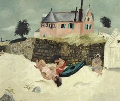La Plage, Hotel Ty-Mad, Tréboul (1930) by Christopher Wood, Sheffield Museum…