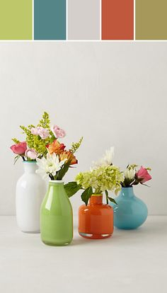 Color Pop Bud Vase Designed By Anthropologie via Stylyze