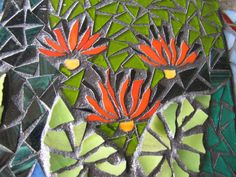 part of a mosaic by kat gottke ,, gum flowers