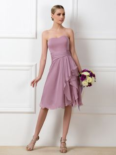 >> Click to Buy << Cheap Simple Bridesmaid Dresses 2017 Sweetheart Knee Length Wedding Guest Wear Party Dresses Bridal Dress Summer Formal Dress #Affiliate