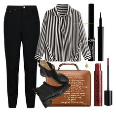 """""""dark"""" by whatisatheme ❤ liked on Polyvore featuring Tory Burch, Giorgio Armani and Vanessa Mooney"""
