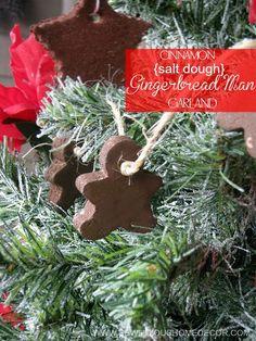 Cinnamon Salt Dough Gingerbread Man Garland by sewlicioushomedecor.com