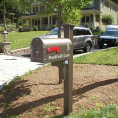 Decorative Residential Mailboxes | All seams, door handle and door hinge are welded together. Never ...