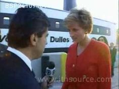 Princess Diana gives brief interview to Brazilian reporter on October 24, 1994 after visiting her friend, the wife of the British Ambassador to Brazil.